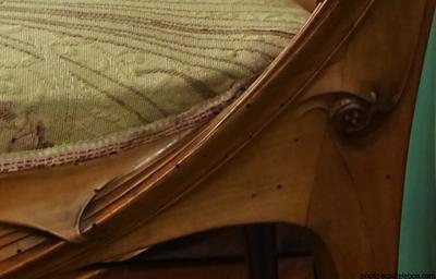 chaise guimard art-nouveau décoration ecoutelebois