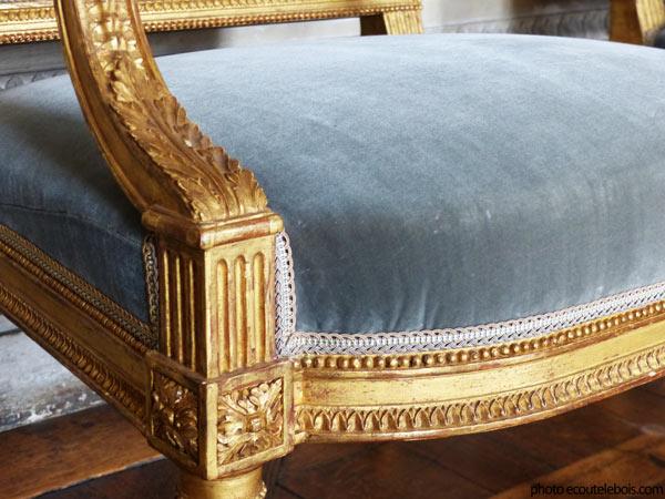 fauteuil louis 16 chateau maisons ecoutelebois