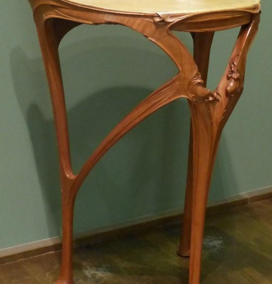 Guéridon art-nouveau Guimard poirier-1903 ecoutelebois
