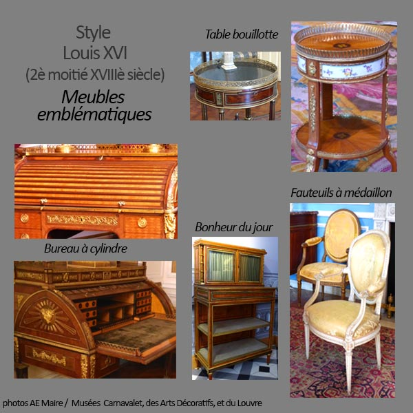 mobilier Louis XVI typique ecoutelebois