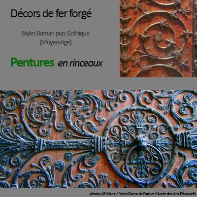 mobilier-gothique-roman-pentures
