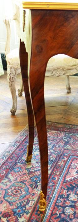 pied de table gracieuse louis XV 18e siecle ecoutelebois