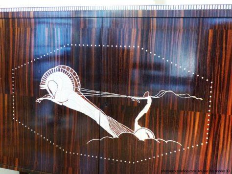 ruhlmann meuble au char 1922 ebene macassar ivoire ecoutelebois