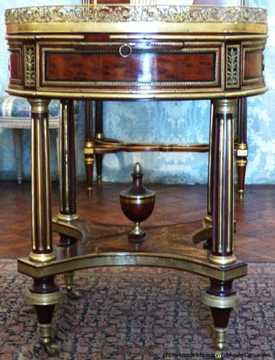table bouillote 1785 Carnavalet ecoutelebois