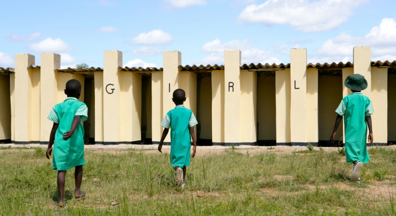 Toiletgebouw in Afrika