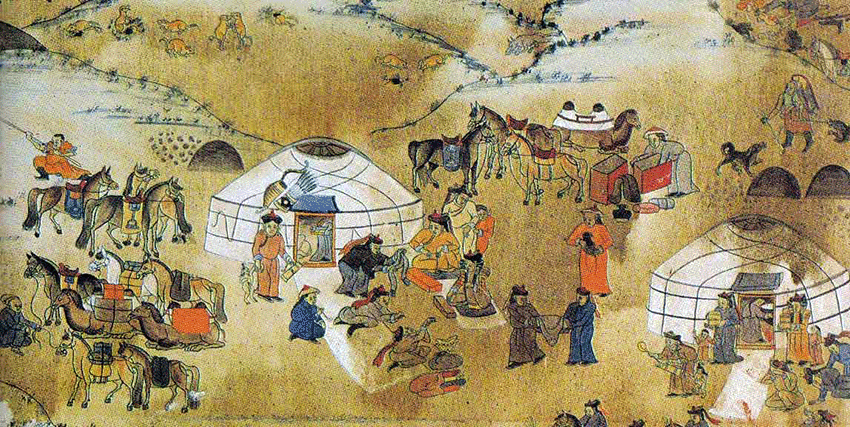 Peinture mongole  Eco voyage en mongolie