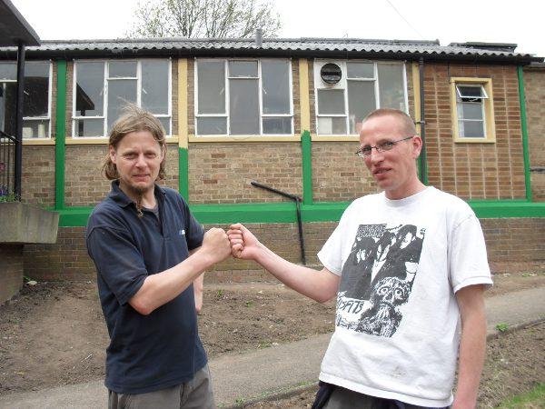 Chris and Mark on the Volunteer Internship