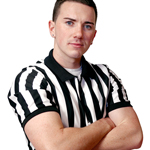 Referee Mikey McArdle