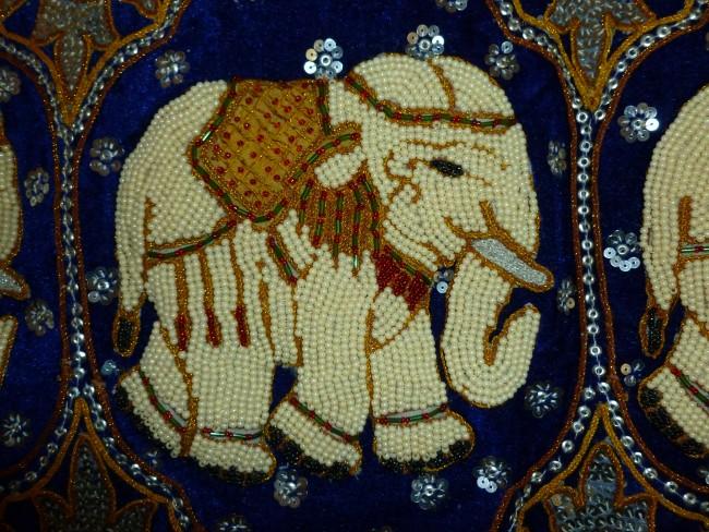Blue Elephant Umbrella Large