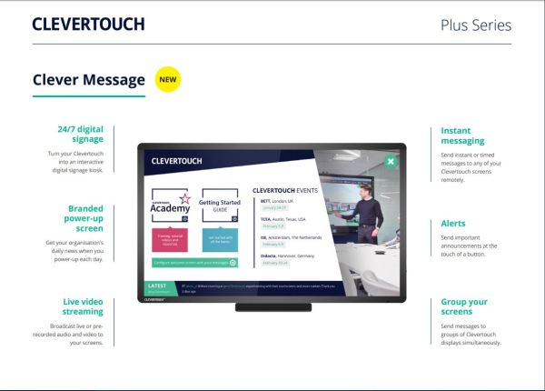 clevertouch plus SERIES clevermessage