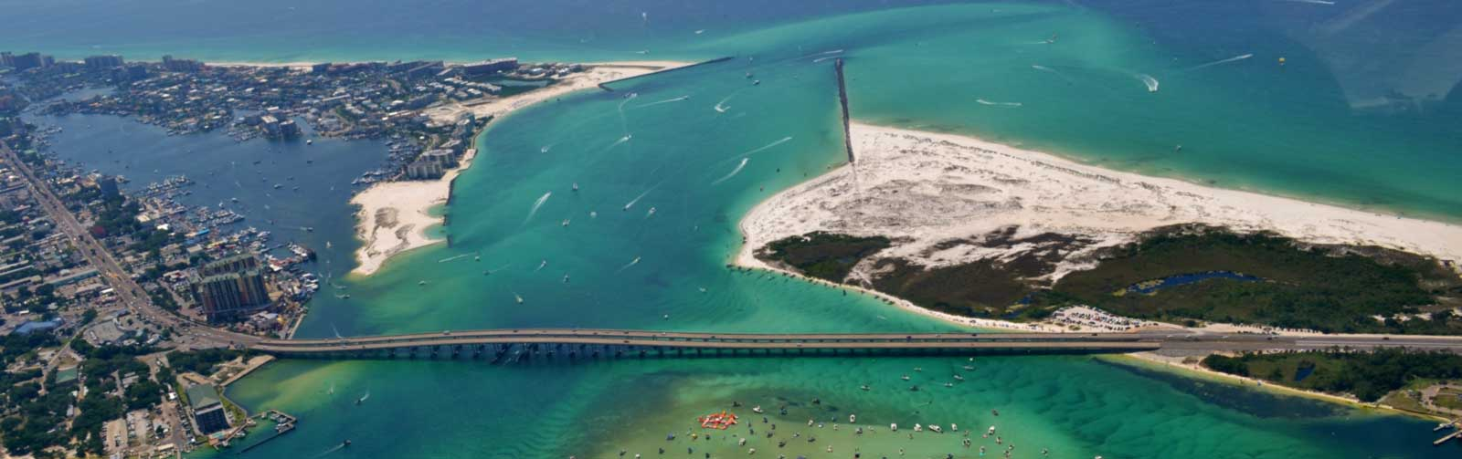 View of Destin from a Helicopter