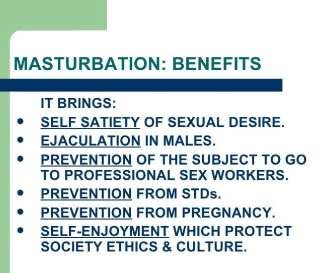 Pilot Reccomend Health Benifits Of Masturbation