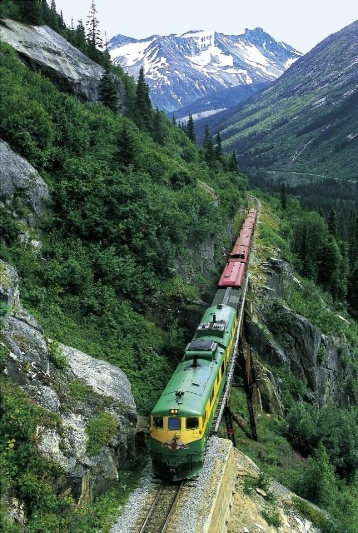 the White Pass Scenic Railway in Skagway