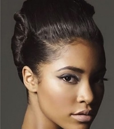 15 ebony girls hairstyles that you should definitely try classy updo hairstyle for african american women pmusecretfo Images