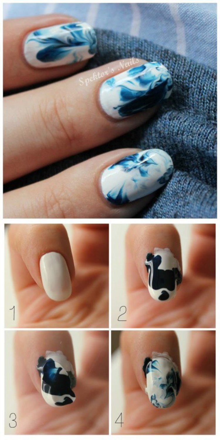10 simple nail art designs tutorial you need to know for summer marble nail design tutorial prinsesfo Choice Image