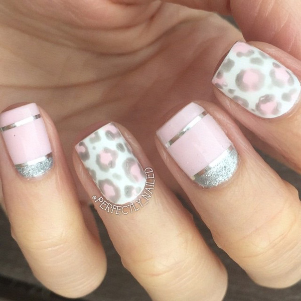 60 stylish leopard and cheetah nail designs that you will love a very pretty in pink leopard nail art design prinsesfo Choice Image