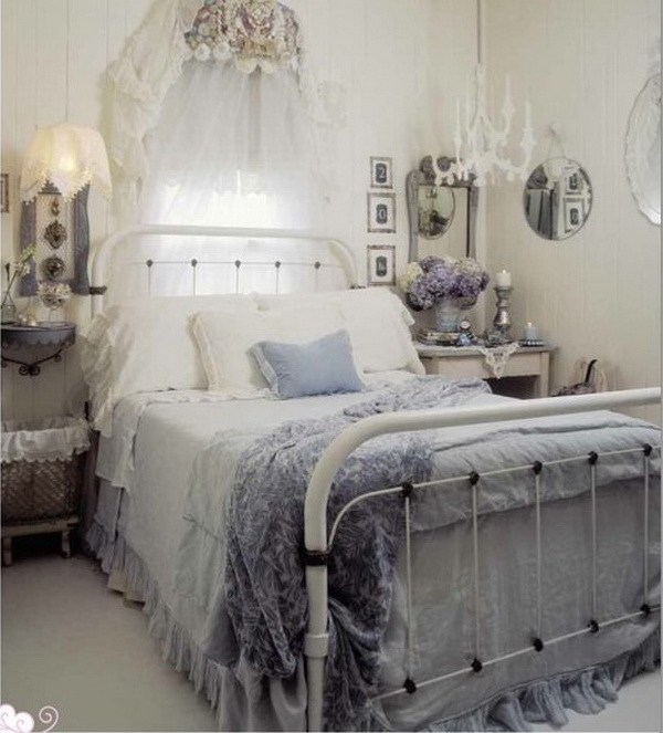 33 cute and simple shabby chic bedroom decorating ideas for Shabby chic cottage decor