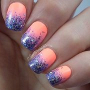 cute and easy glitter nail