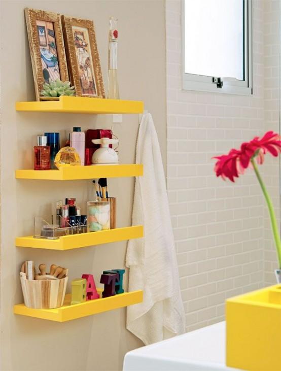 Practical Bathroom Storage Ideas @EcstasyCoffee - 13