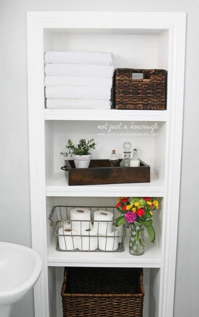Practical Bathroom Storage Ideas @EcstasyCoffee - 40