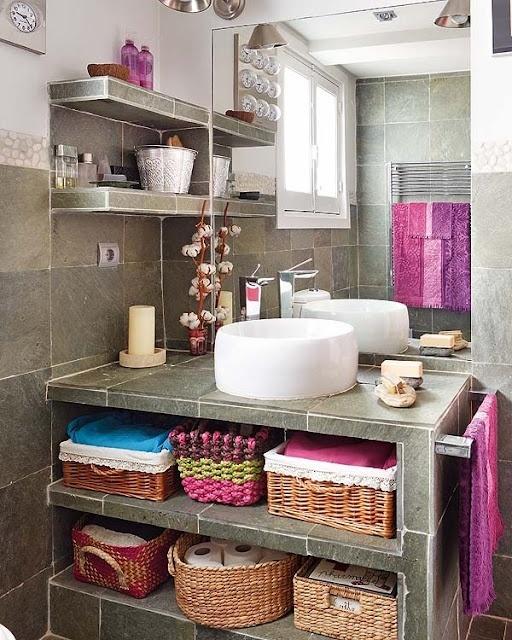 Practical Bathroom Storage Ideas @EcstasyCoffee - 5
