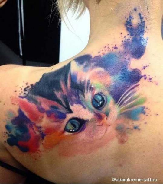 45 cute and lovely cat tattoos ideas for cat lovers for Tatoo gatos