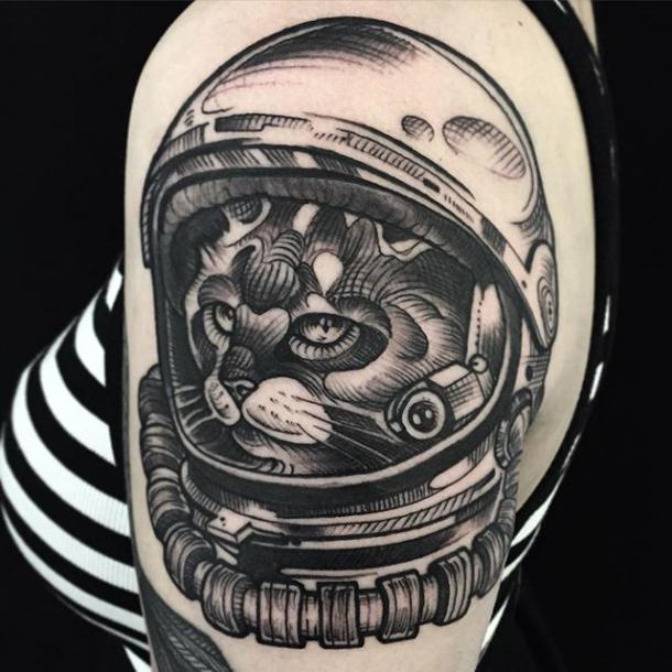 dog astronaut tattoo - photo #17