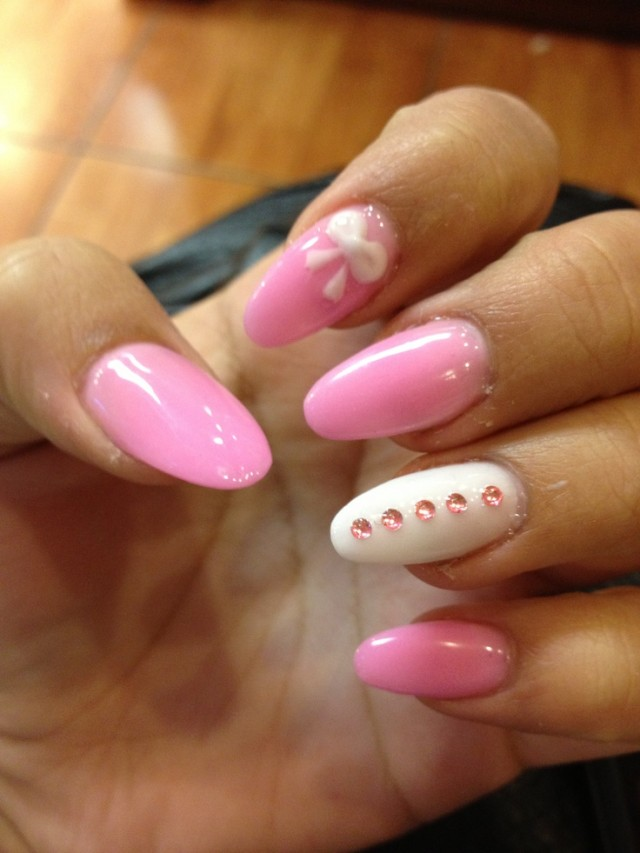 30 Cute Cool And Simple Bow Nail Art Designs For Girls 187 Ecstasycoffee