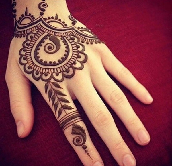 Most tribal tattoo designs are in black.