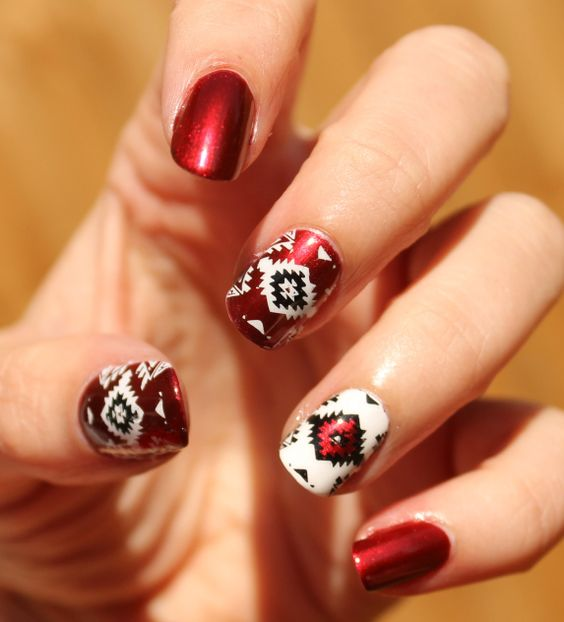nail-design · native-american-inspired-nail-art ... - 40 Inspirational Nail Art Inspired By Native American Designs