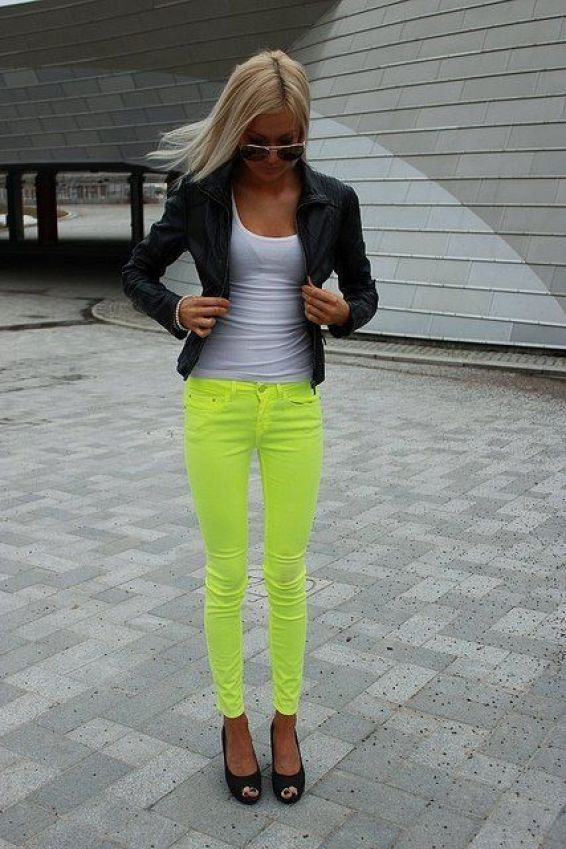 12 Style Tips On How To Wear Neon Pants Outfit Ideas