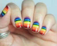 30+ Cool Colorful Rainbow Nail Designs You Wont Miss