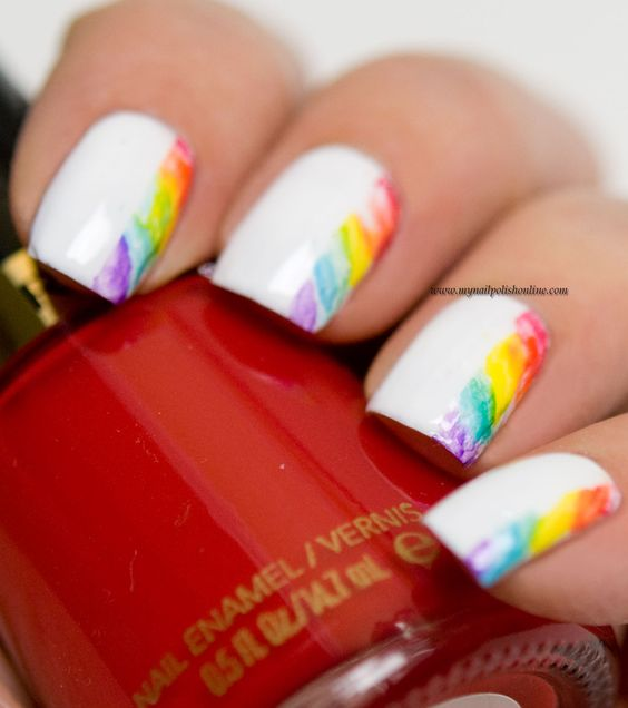 50 Cool Colorful Rainbow Nail Designs You Won T Miss 187 Ecstasycoffee