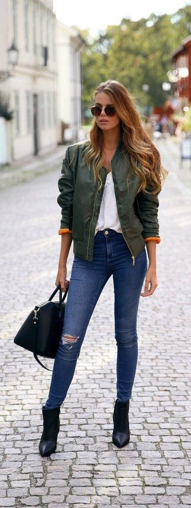 30 Style Tips On How To Wear A Bomber Jacket 187 Ecstasycoffee