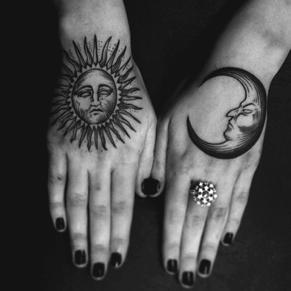 The sun and moon tattoo is very popular all over the world.