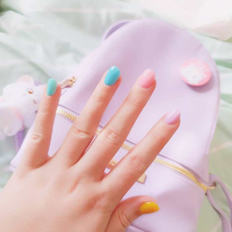50 Cool Colorful Rainbow Nail Designs You Wont Miss