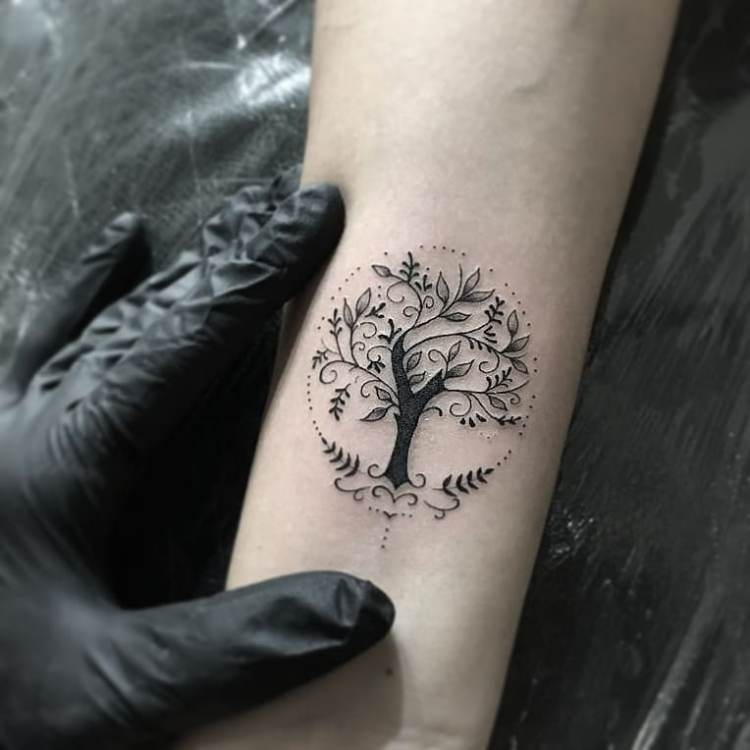 Tree Of Life Tattoo: 50+ Simple And Small Minimalist Tattoos Design Ideas For