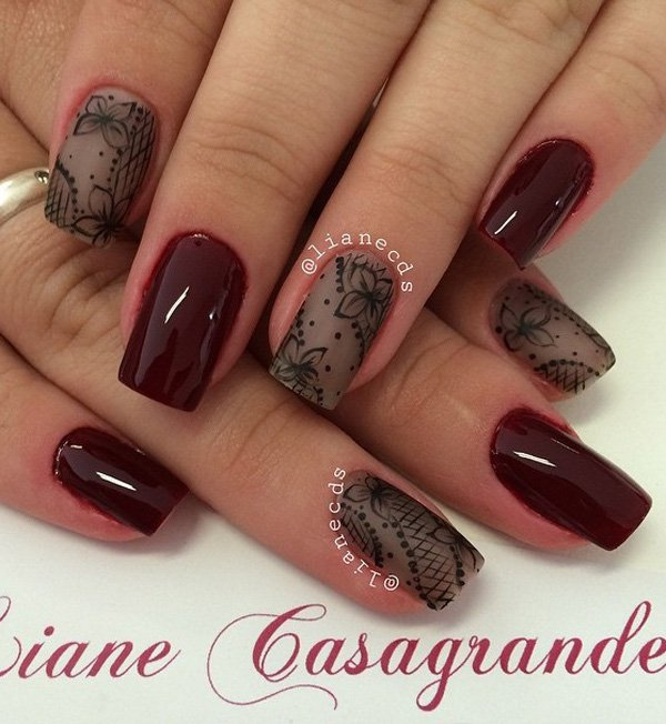 40 best fall winter nail art designs to try this year ecstasycoffee. Black Bedroom Furniture Sets. Home Design Ideas