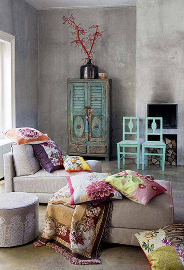Simple Living Room Decor: 40 Beautiful Pictures Of Bohemian Style To Decorate Your