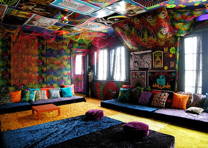 curtain design in living room apartment therapy storage 40 beautiful pictures of bohemian style to decorate your ...