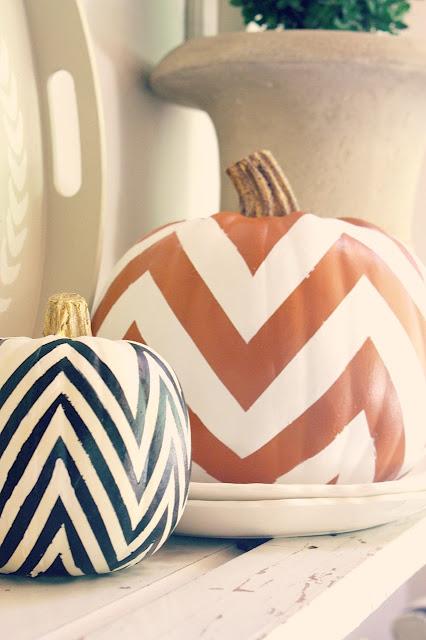 chevron-painted-pumpkins