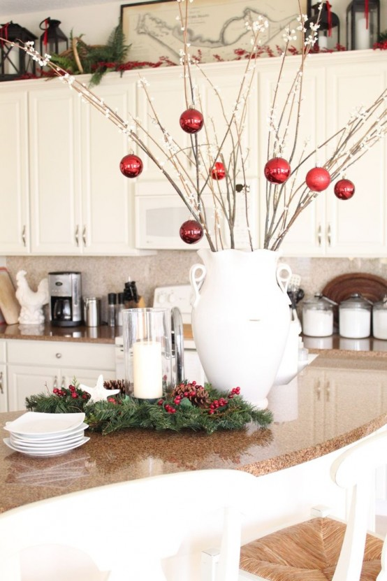 46 best christmas kitchen decorating ideas