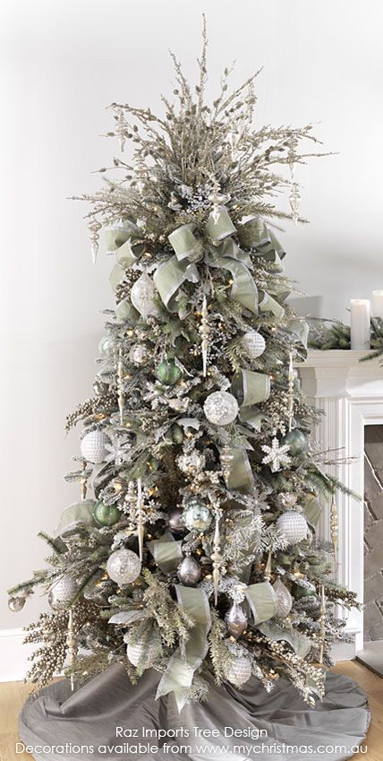 Christmas Tree Themes.37 Awesome Silver And White Christmas Tree Decorating Ideas