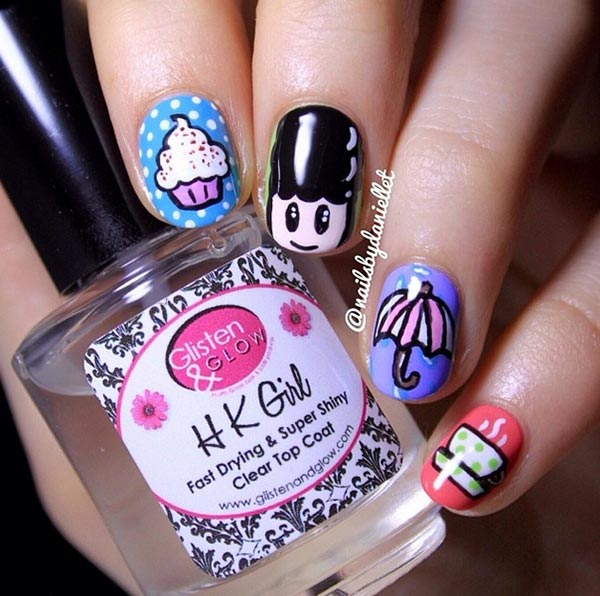 50 stunning small symbols and pictures nail art designs you wish cute nail design prinsesfo Image collections
