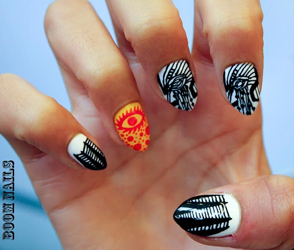 50 Stunning Small Symbols And Pictures Nail Art Designs You Wish To Try 187 Ecstasycoffee
