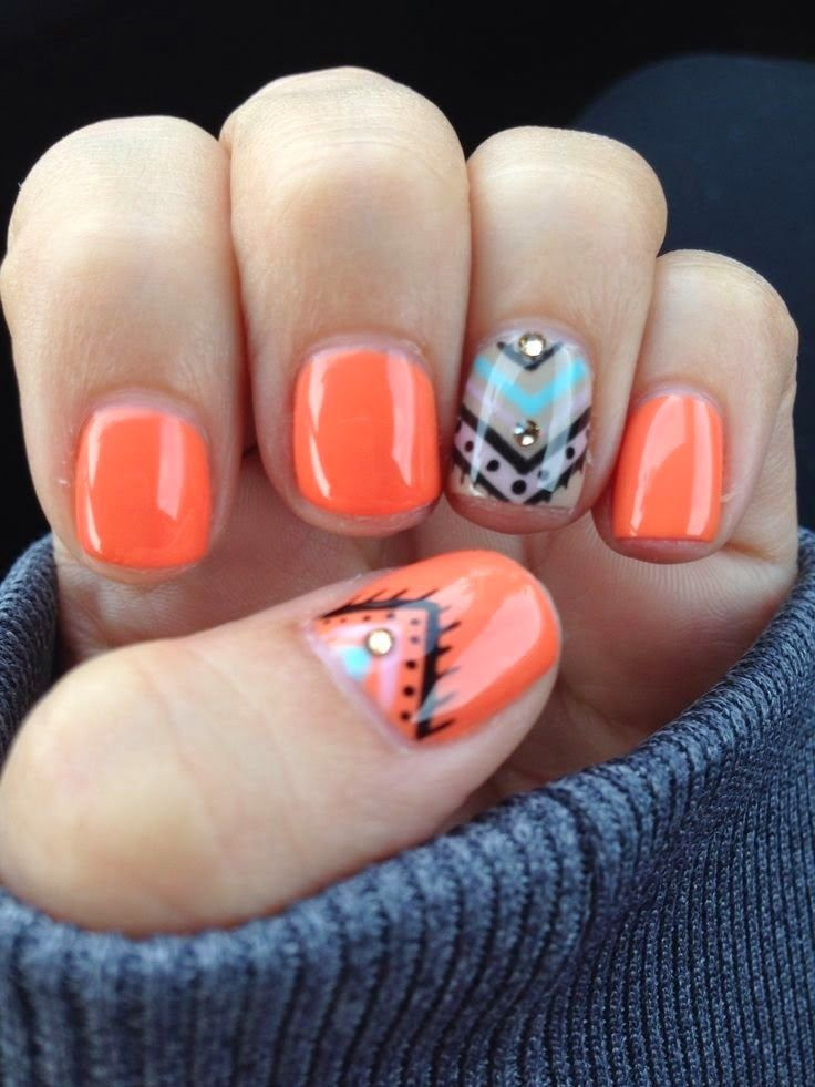 Art Designs: 45 Fall Nail Art Designs Ideas You'll Love » EcstasyCoffee