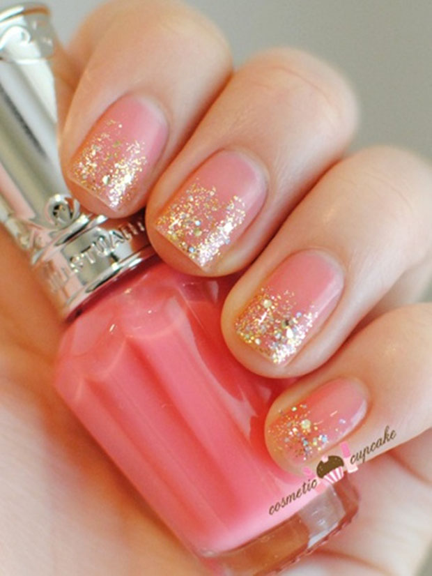 40 Best Examples Of Gold Glitter Nail Polish Art Just For You 187 Ecstasycoffee