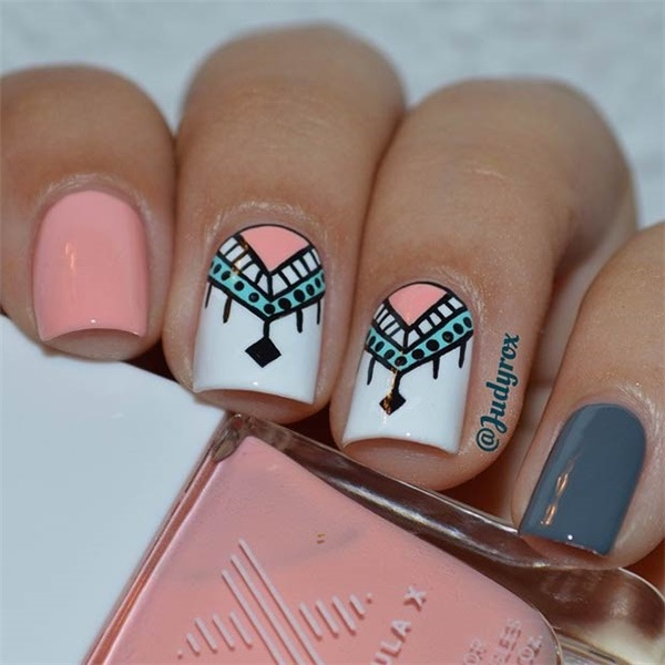 30 Amazing Rhinestone Nail Art Designs Ecstasycoffee: 50 Most Beautiful Pink And White Nails Designs Ideas You