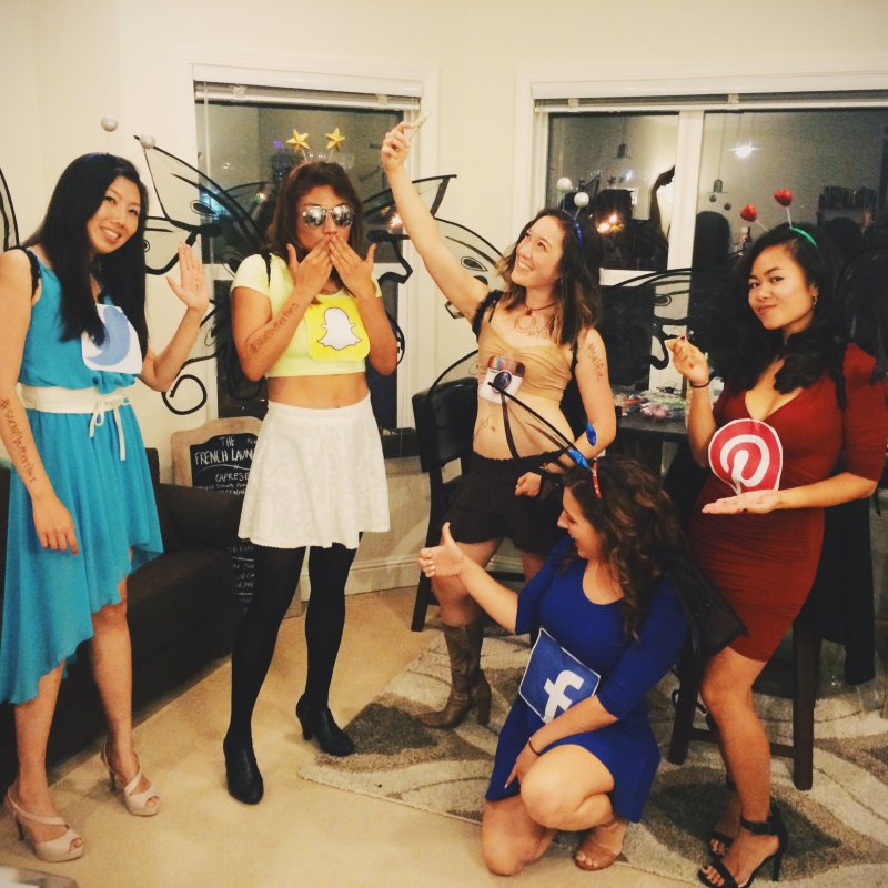 #2 Group Halloween Costume Social Butterflies  sc 1 st  EcstasyCoffee & 50 Bold And Cute Group Halloween Costumes For Cheerful Girls ...