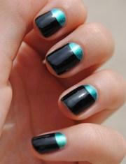 moon nail art design